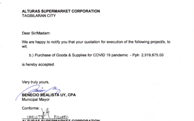 Purchase of Goods & Supplies for COVID19 pandemic